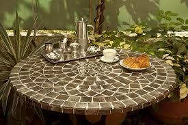 table ronde mosaique fer forge table mosaïque ronde 140 cm