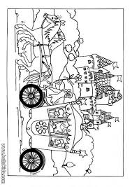 Horse And Coach Coloring Page