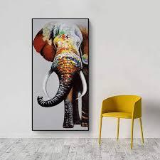 shenlanyu abstrakte bunte elefant bild leinwand wandkunst