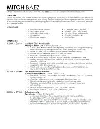 Resume Profile Examples Administrative Assistant Sample Unforgettable To