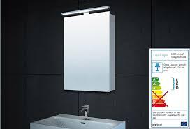 aluminium led beleuchtung badezimmer spiegelschrank mc4601 40 x 60 cm