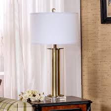 Tall Table Lamps For Bedroom by Classical Gold Glass Crystal Base Table Lamp Modern Hotel Lobby