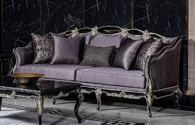 casa padrino luxus barock sofa lila schwarz gold handgefertigtes wohnzimmer sofa mit dekorativen kissen wohnzimmer möbel im barockstil edel