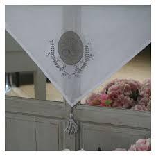 brise bise rideau en coton à nouettes style gustavien largeur 60cm