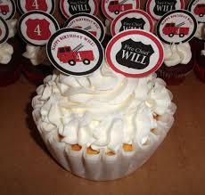 100 Fire Truck Cupcake Toppers Delivery Dallas Birthday Wedding S Dallas TX