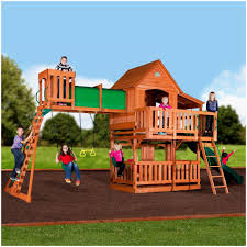 Backyards: Cool Wood Backyard Playsets. Backyard Ideas. Outdoor ... Swing Sets Give The Kids A Playset This Holiday Sears My Tips For Buying And Installing A Set Or Outdoor Skyfort Ii Wooden Playsets Backyard Discovery Amazoncom Prestige All Cedar Wood Costco Gorilla Swings Frontier Walmartcom Creations Adventure Mountain Redwood Installation Interesting Playground Design With And Home Paradise Home Decor Amazing For Billys Ma Ct Ri Nh Me