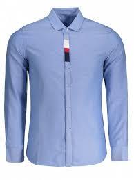 Mens Button Up Shirt LIGHT BLUE Shirts XL