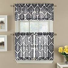 Bed Bath And Beyond Semi Sheer Curtains by Morocco Window Tier Pair In Navy Bedbathandbeyond Com Future