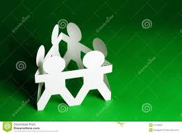 Download Paper Dolls Holding Hands Stock Image Of Conceptual