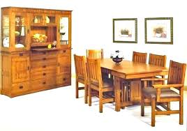 Mission Style Dining Room Set Table And