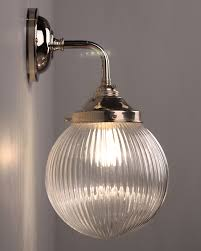 contemporary wall light with goodrich prismatic globe bathroom