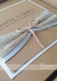 Stunning Rustic Hessian Wedding Invitations In Luxurious Boxes Featuring Twine Bow Satin Ribbon And On A Kraft Natural Brown Card Base