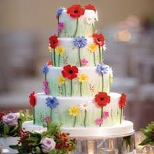 Such A Happy And Pretty Cake Zoe Clark Perfect For Garden Wedding
