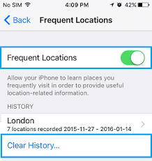 How to Turn f Frequent Locations Tracking on iPhone