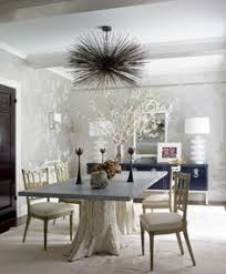 In Ashley Stark Kenners Dining Room Designed By James Aman And John Meeks Cowhide