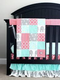Aqua And Coral Crib Bedding by Crib Bedding For A Crib Bedding Sets Girls Crib Bedding