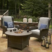Grand Resort Patio Furniture by Grand Resort Monterey Set Of 2 Chat Group Chairs Gray Limited