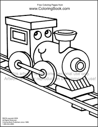 Free Online Coloring Pages Train