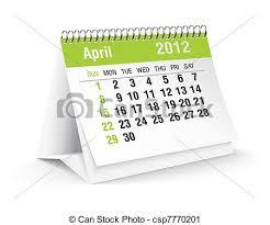 calendrier bureau avril calendrier 2012 bureau illustration vecteur