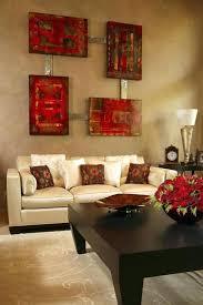 rot und braun wohnzimmer dekoration ideen wohnzimmer