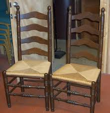 Tall Ladder Back Chairs With Rush Seats by Cool Ladder Back Chair For Sale With Additional Furniture Chairs
