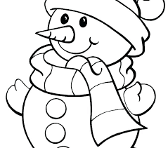 Winter Color Pages Free Printable Coloring For Preschoolers K
