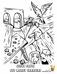 Jesus Vs Money Changers Colouring Pages Bible At YesColoring