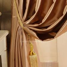 Insulated Window Curtain Liner by Artificial Fiber Golden Brown Insulated And Thermal Blackout