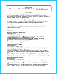 Accounting Student Resume Here Presents How The Of Clearly Made No Experience Will Focus On T