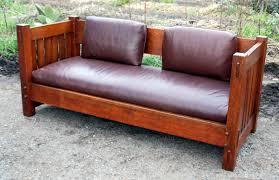 Stickley Mission Leather Sofa by Voorhees Craftsman Mission Oak Furniture Original Gustav