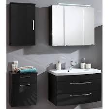 lomadox badmöbel set rimao 02 spar set 4 tlg 80cm waschtisch led spiegelschrank hochglanz anthrazit x h x t ca 142 x 190 x 48 5 cm