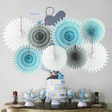InBy Its A BOY Baby Shower Decoration Party Supplies Kit For Boy Tissue Paper Pom Pom And Lantern Its