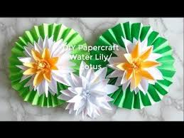 Easy DIY Papercraft Water Lily Lotus How To Make Pretty Paper Flowers Step By