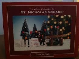 Christmas Village St Nicholas Square Trees For Sale