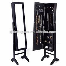 Wholesale MDF Wooden Jewelry Display Cases Showcase Cabinet
