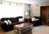 how to decorate a living room with dark brown leather furniture