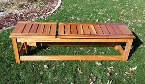 Outdoor Bench BenchWood Mahogany Finish CPES