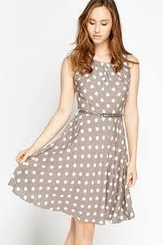 grey polka dot skater dress just 5