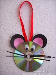 Cute Mouse Wall Hanging Decoration Out Of Old CD
