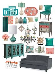 Coral Colored Decorative Items by Simply Contemporary In Gray Teal U0026 Coral Teal Coral Teal And