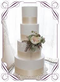 Soft Pastel And Australian Native Rustic Romantic Artificial Silk Wedding Cake Flowers Topper Decoration With Roses