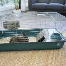 käfig nero 3 modern luxe für kaninchen und meerschweinchen 100cm