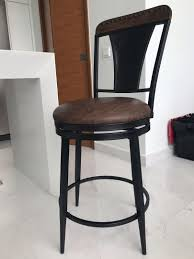 Leather Seat High Chair / Bar Stool, Furniture, Tables ...