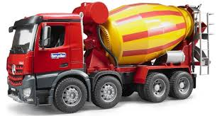 Bruder Toys MB Arocs Cement Mixer Kids Play Toy Truck | Bruder Toys ...