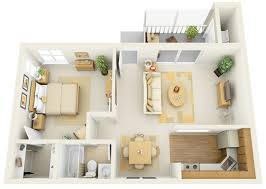 Efficiency Floor Plans Colors 1 Bedroom Apartment House Plans