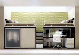 Wonderful Double Loft Beds For Teenagers With Desk And Wardrobe Teen Bedroom Decor Ideas