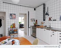 Like The Use Of Bricks Tiles In Kitchen That Is Whole Causes It To Be Fascinating Pipes Being Disclosed Rather A Catch