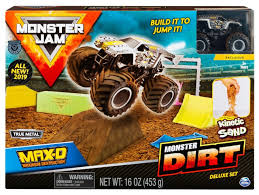 100 Monster Truck Track Set Jam Dirt MaxD Playset Spin Master ToyWiz