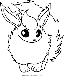 Pokemon Eevee Coloring Pages Page Cute 5