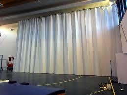 rideau separateur de rideaux séparateurs en polyester pour gymnase centre de congrès